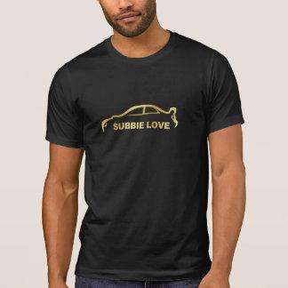 Logotipo de la silueta del oro del amor de Subbie Camiseta