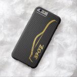 Logotipo de la silueta JDM del oro de Nissan 370z Funda Barely There iPhone 6