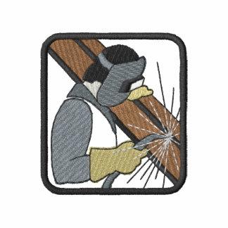 Logotipo de la soldadura sudadera bordada con capucha