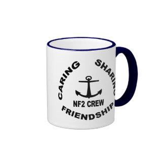 Logotipo de la taza de NF2Crew en negro
