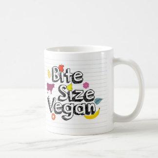 Logotipo de la taza del vegano del tamaño de la