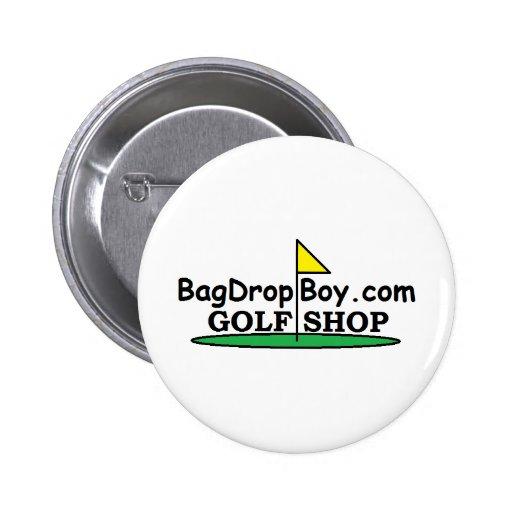 logotipo de la tienda del golf de BagDropBoy.com Pins