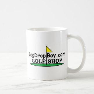 logotipo de la tienda del golf de BagDropBoy.com Taza De Café