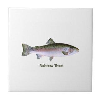 Logotipo de la trucha arco iris azulejos ceramicos