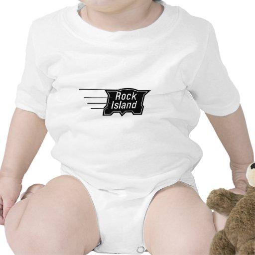 Logotipo de la velocidad del ferrocarril de la isl trajes de bebé