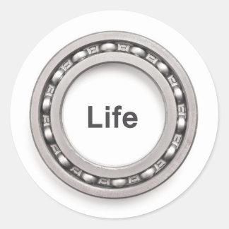 Logotipo de la vida del transporte, icono pegatina redonda