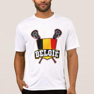 Logotipo de LaCrosse de la bandera de Bélgica Camiseta