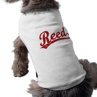Logotipo de lámina de la escritura en rojo playera sin mangas para perro