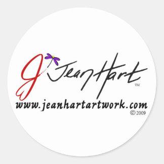 Logotipo de las ilustraciones del ciervo de Jean Pegatina Redonda
