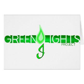 Logotipo de las luces verdes tarjeta