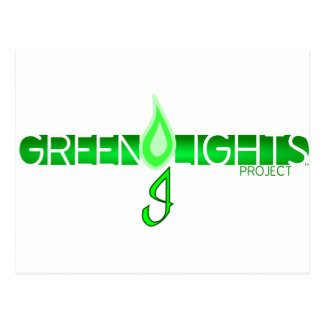 Logotipo de las luces verdes postal