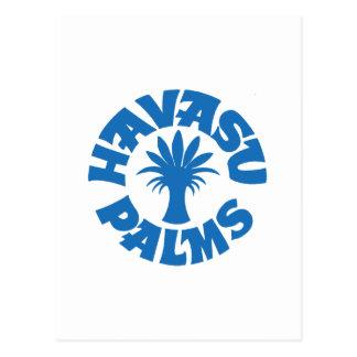 Logotipo de las palmas de Havasu, azul turquesa Tarjetas Postales