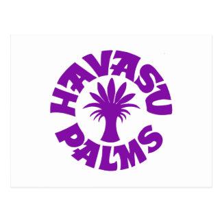 Logotipo de las palmas de Havasu, púrpura Postales
