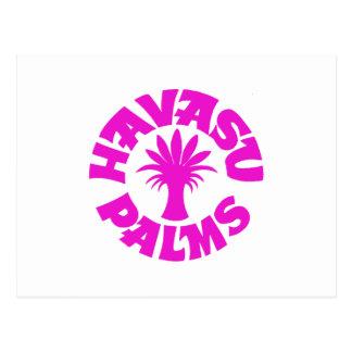 Logotipo de las palmas de Havasu, rosado Tarjeta Postal