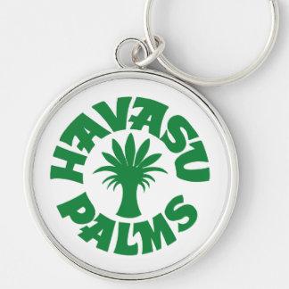 Logotipo de las palmas de Havasu, verde Llavero Personalizado