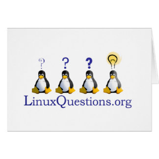 Logotipo de las preguntas de Linux Tarjeta De Felicitación
