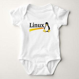Logotipo de Linux con los productos de Tux Body Para Bebé