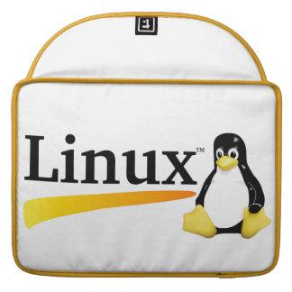 Logotipo de Linux con los productos de Tux Fundas Macbook Pro