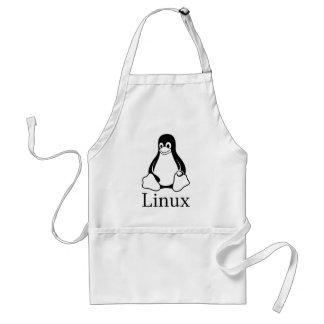 Logotipo de Linux con Tux el pingüino de Linux Delantal
