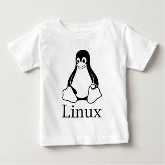 Logotipo de Linux con Tux el pingüino de Linux Playera De Bebé