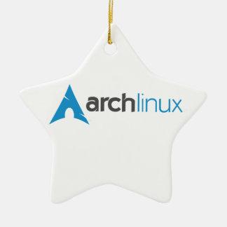 Logotipo de Linux del arco Adorno Navideño De Cerámica En Forma De Estrella