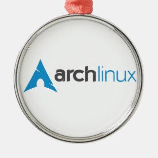 Logotipo de Linux del arco Adorno Navideño Redondo De Metal