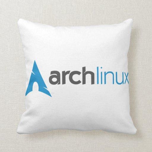 Logotipo de Linux del arco Almohadas