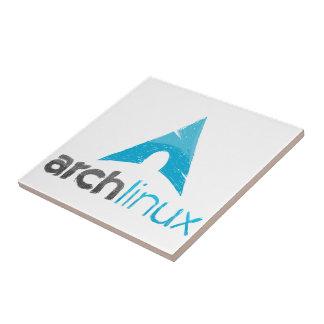 Logotipo de Linux del arco Azulejo Cuadrado Pequeño