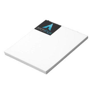 Logotipo de Linux del arco Bloc De Notas