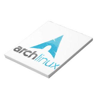 Logotipo de Linux del arco Blocs De Papel