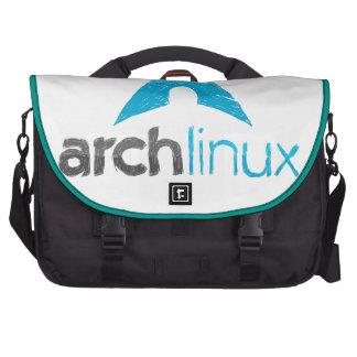 Logotipo de Linux del arco Bolsas Para Portátil
