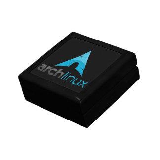 Logotipo de Linux del arco Cajas De Joyas