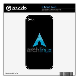Logotipo de Linux del arco Calcomanías Para El iPhone 4