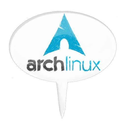Logotipo de Linux del arco Figura Para Tarta