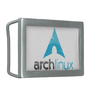 Logotipo de Linux del arco Hebillas De Cinturon Rectangulares