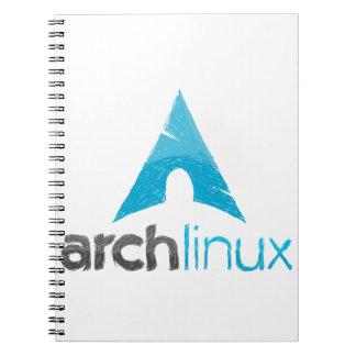 Logotipo de Linux del arco Libreta Espiral
