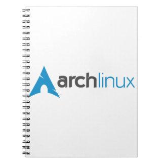 Logotipo de Linux del arco Libretas Espirales