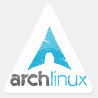 Logotipo de Linux del arco Pegatina Trianguladas Personalizadas