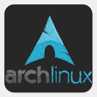 Logotipo de Linux del arco Pegatinas Cuadradases