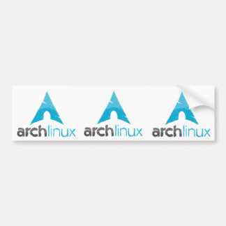 Logotipo de Linux del arco Pegatina Para Auto