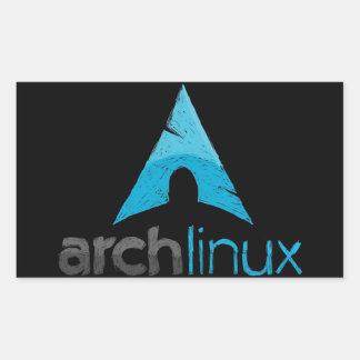 Logotipo de Linux del arco Pegatina Rectangular