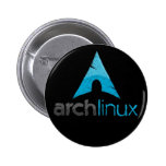 Logotipo de Linux del arco Pin Redondo 5 Cm