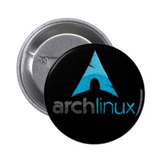 Logotipo de Linux del arco Pin Redondo De 2 Pulgadas