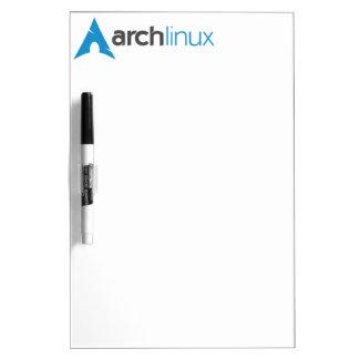 Logotipo de Linux del arco Pizarra