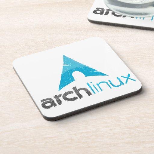 Logotipo de Linux del arco Posavasos