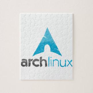 Logotipo de Linux del arco Puzzle Con Fotos