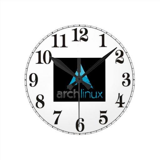 Logotipo de Linux del arco Reloj