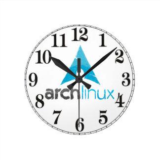 Logotipo de Linux del arco Reloj Redondo Mediano