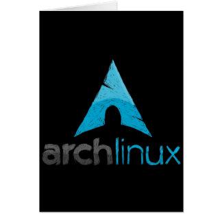 Logotipo de Linux del arco Tarjeta De Felicitación