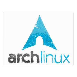 Logotipo de Linux del arco Tarjeta Postal